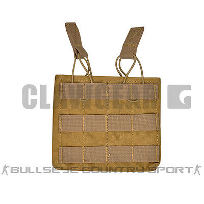 CLAW GEAR DOUBLE M4 MAG POUCH COYOTE BROWN QUICK RELEASE
