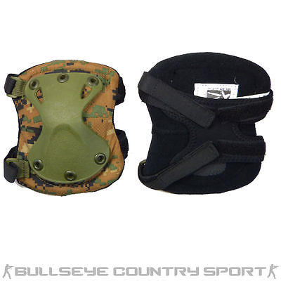 CLAW GEAR XPD ELBOW PADS DIGITAL WOODLAND TACTICAL ELBOW PADS
