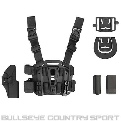 COBRA DROP LEG PANEL AND HOLSTER BLACK G17 G18 G19