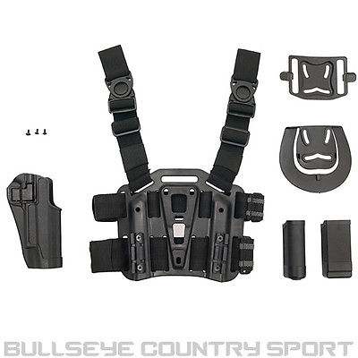 COBRA DROP LEG PANEL AND PADDLE HOLSTER 1911 BLACK