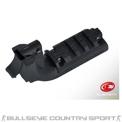 ELEMENT M9 PISTOL UNDER RAIL MOUNT BLACK WEAVER RAIL 20MM