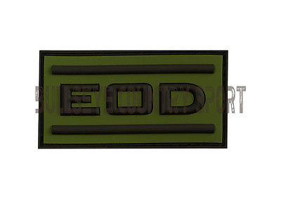EOD MORAL PATCH BLACK OD RUBBER VELCRO BACKED