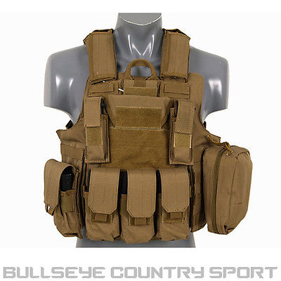 Fields Tactical Combat Vest Fully Loaded Coyote