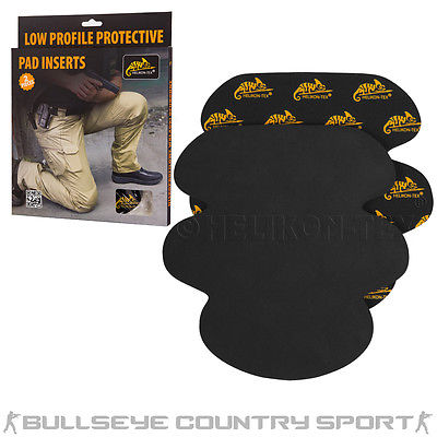 HELIKON LOW PROFILE PROTECTIVE KNEE PAD INSERTS TACTICAL AIRSOFT