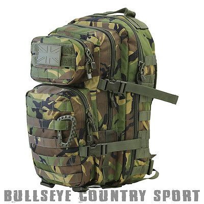 Kombat Small Assault Molle Day Pack DPM Woodland Camo Back Pack Airsoft