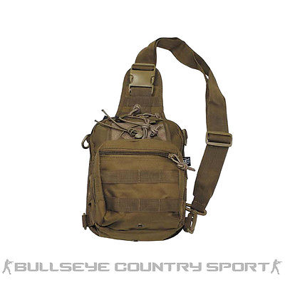 Mfh Combat Tactical Shoulder Bag with Molle Attachments Coyote