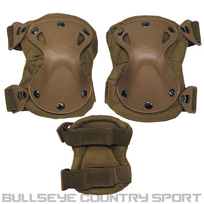 Mfh Defence Knee Pads Xpd Hard Shell Coyote