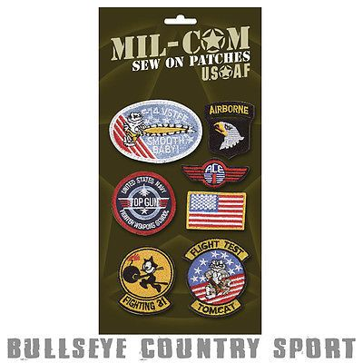 Mil-Com Kids Embroidered Badges Top Gun Style Fancy Dress