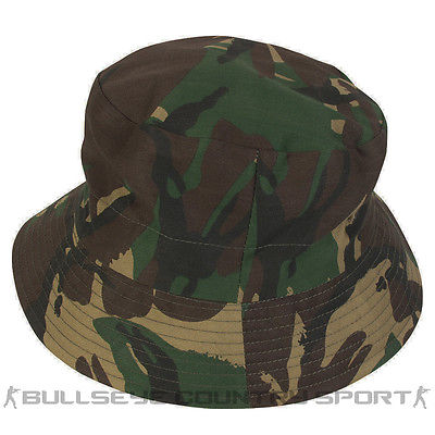 MIL-COM REVERSIBLE BOONIE HAT BRITISH DPM CAMO & GREEN