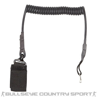STRIKE SYSTEMS PISTOL LANYARD BLACK SAFETY STRAP AIRSOFT
