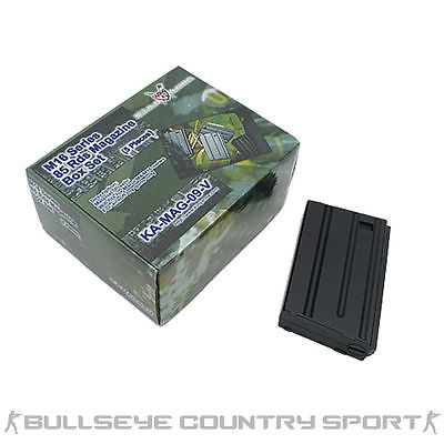 AIRSOFT KING ARMS M4 M16 85RD MID-CAP MAGAZINE BOX SET 5 BLACK KA-MAG-09-V