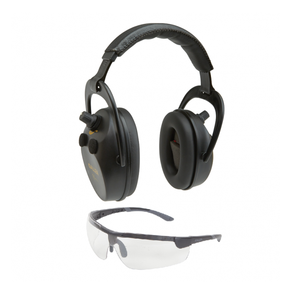 Allen Axion Electronic Ballistic Ear Muff Defenders & Safety Glasses Shoot 2335