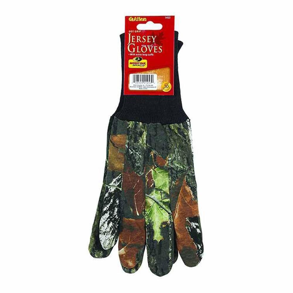Allen Camo Jersey Gloves Mossy Oak Break Up Hunting Field Sports #1453
