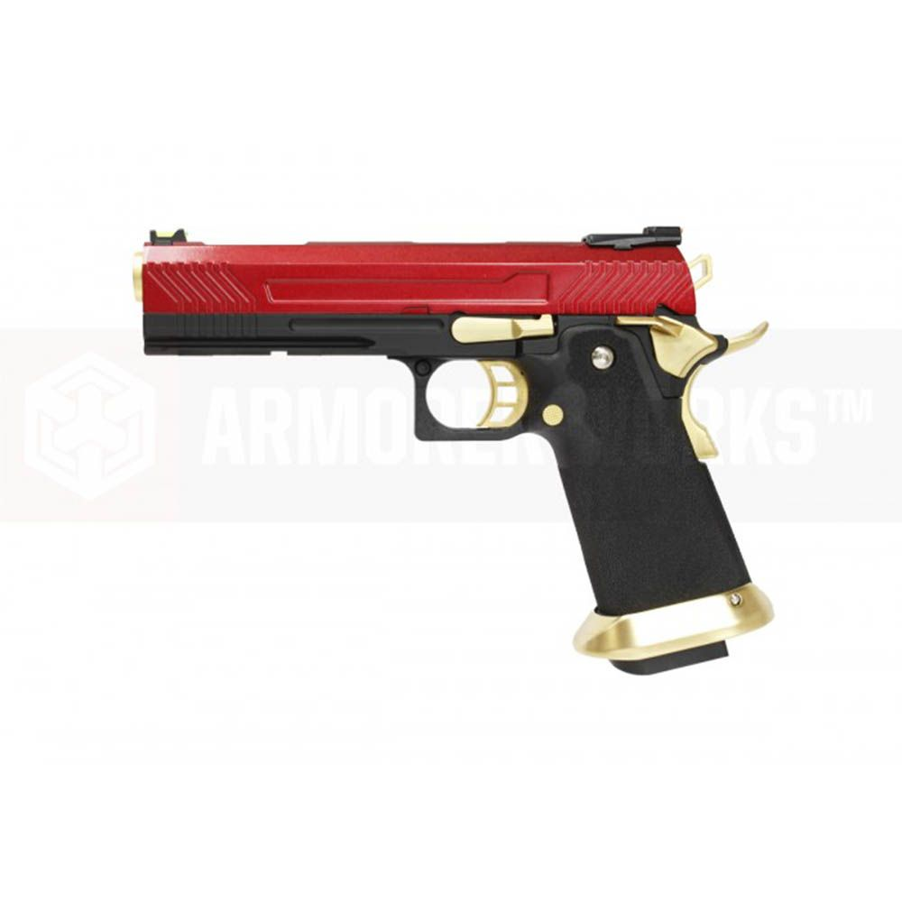 Armorer Works Custom Hi Capa Hx1104 Gbb Airsoft Pistol Red Slide