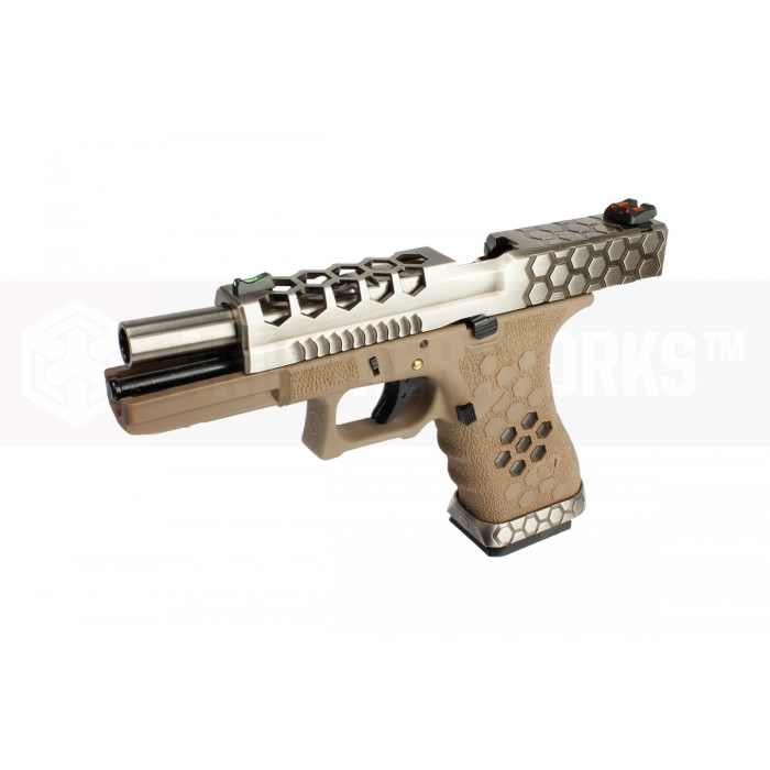 Armorer Works Hex Cut G17 VX0110 GBB Airsoft Pistol Tan