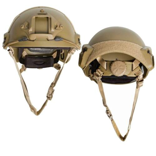 ASG Strike Systems Military Style Fast Helmet Coyote Adjustable with Rail Set
