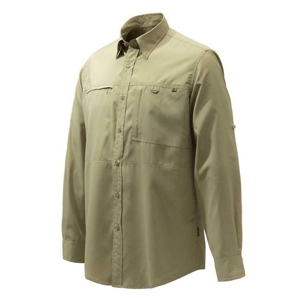 Beretta Serengeti Sport Hunting Shirt Green Game Trap Field Country Wear LU063