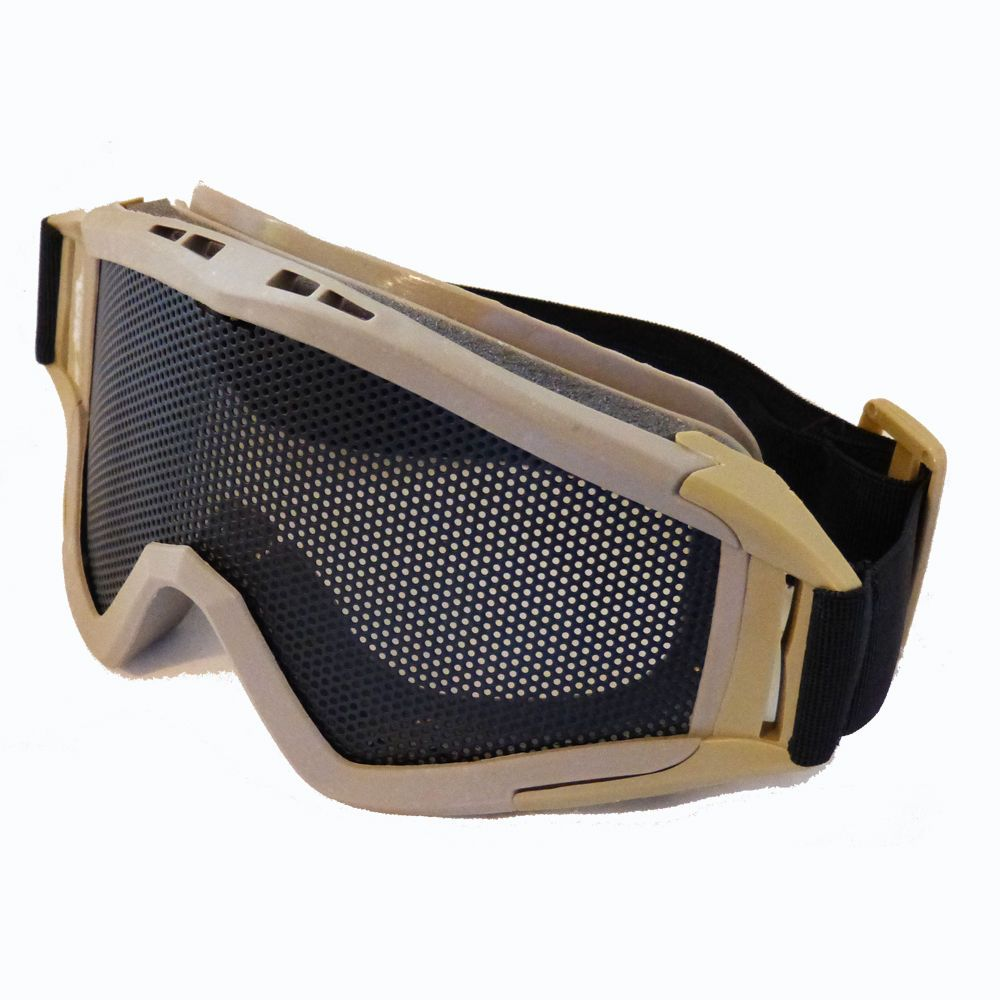 BIG DRAGON AIRSOFT LARGE MESH GOGGLES TAN COYOTE