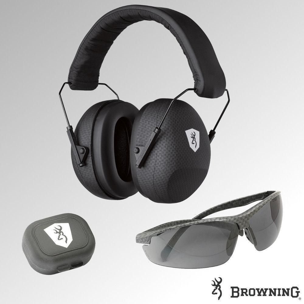 Browning Black Label Tactical Range Kit Ear Defenders Ear Plugs Glasses 126374