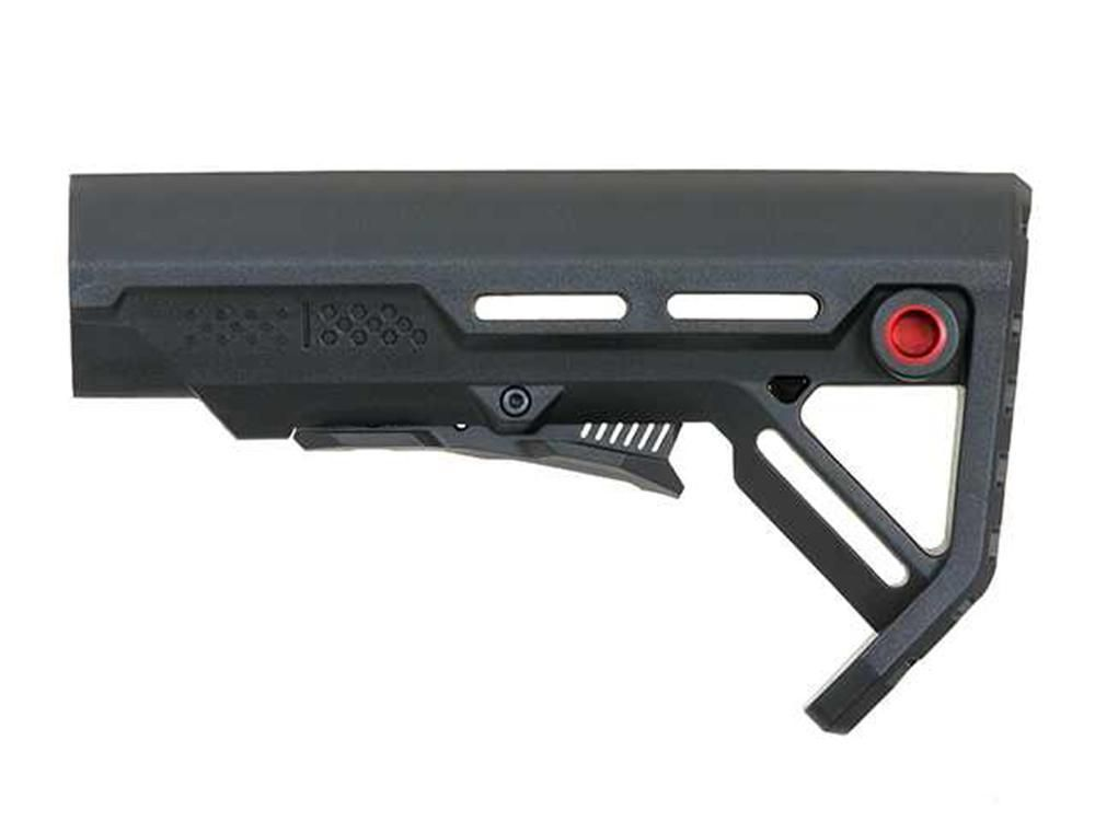 Cobra Airsoft Minimalistic Clubfoot Light Weight Stock Black / Red M-Series 046-BK
