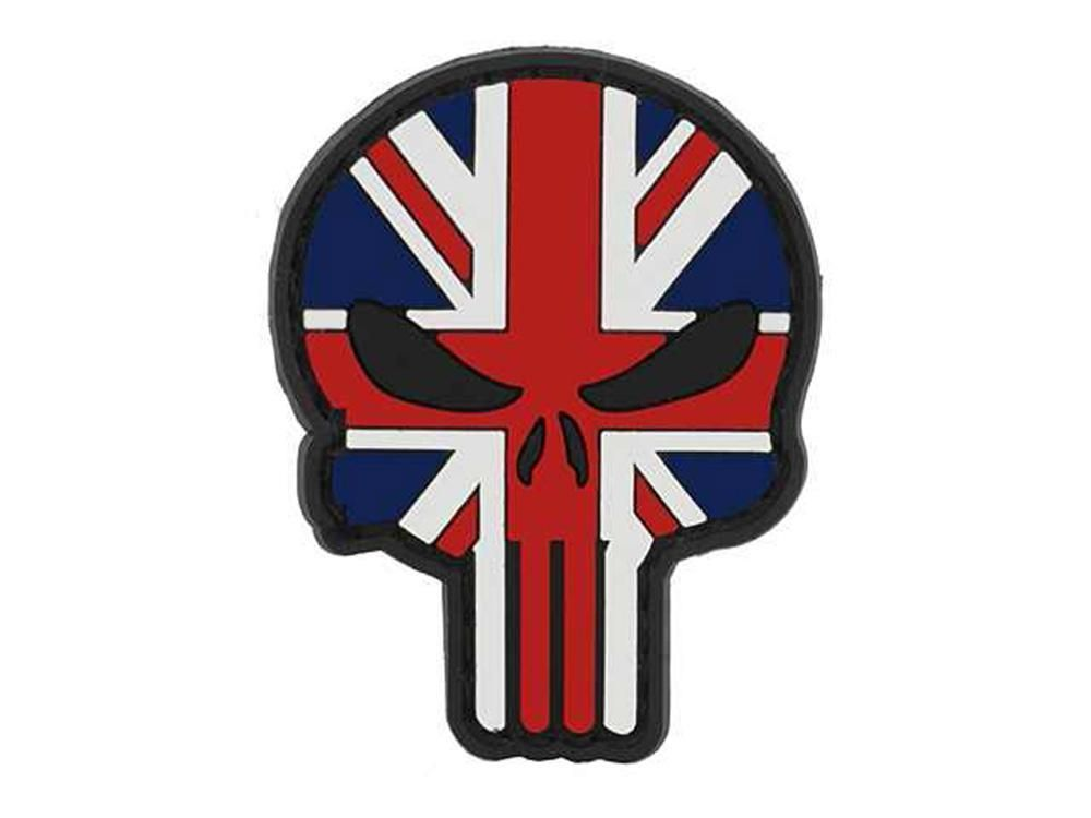Cobra Airsoft Rubber PVC Moral Patch Skull Union Jack SKULL-UK