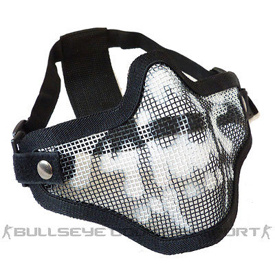 COBRA V1 MESH MASK BLACK WITH SKULL