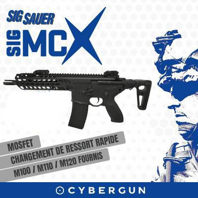 Cybergun Sig Sauer MCX Black 6mm Airsoft Electric Assault Rifle RIF AEG