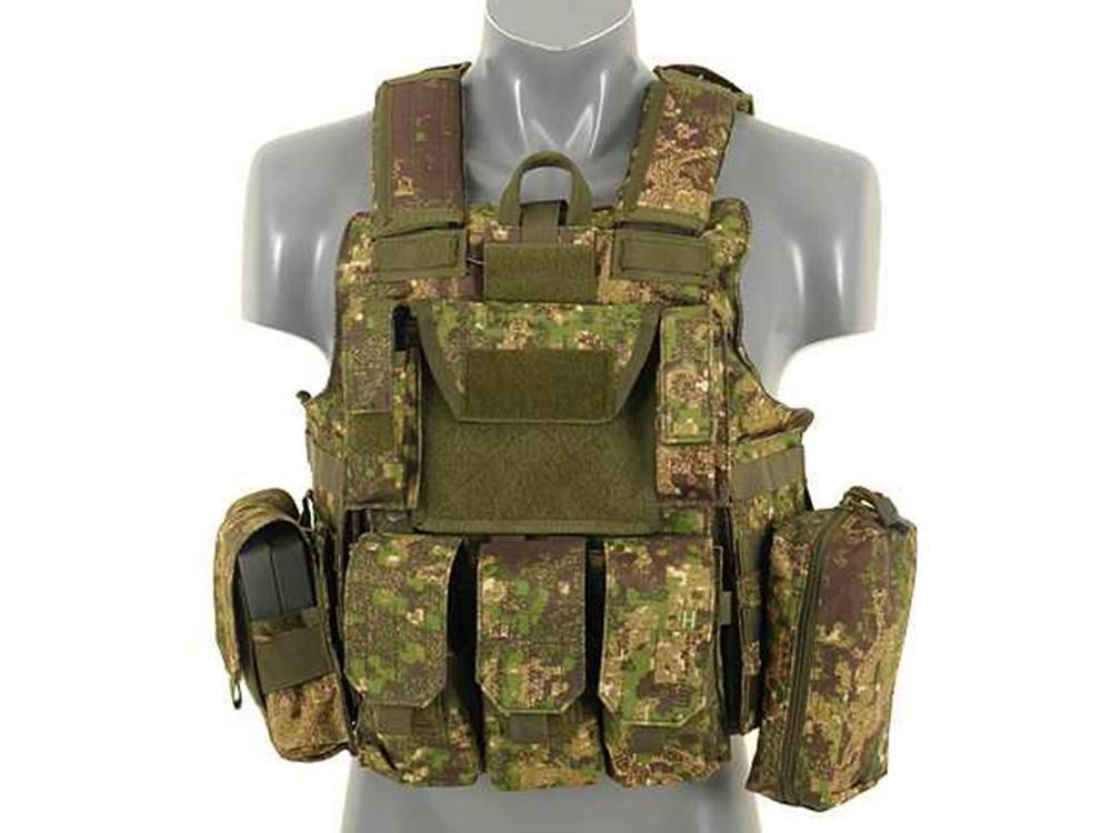 Fields Airsoft Combat Assault Molle Operators Vest PG Camo Fully Loaded 1004PG