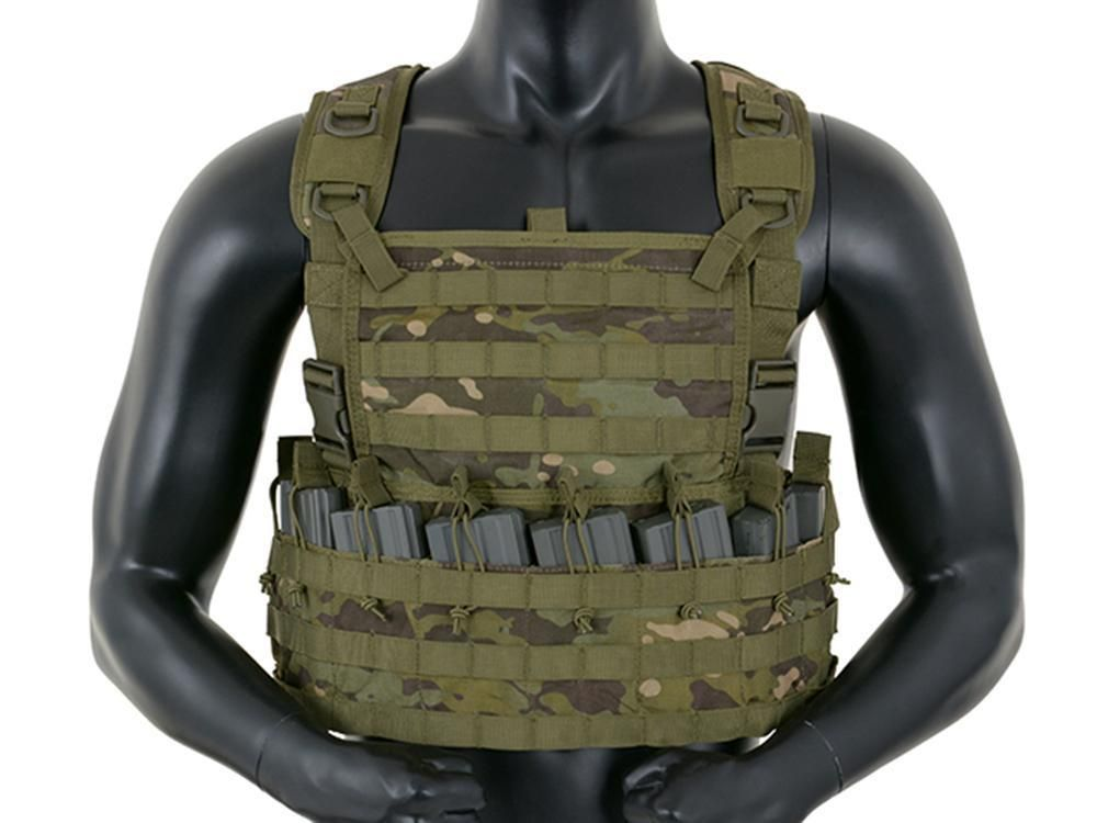 Fields Airsoft Rifleman Molle Camo Chest Rig Harness Multi Tropic 1036MT 6mm bb