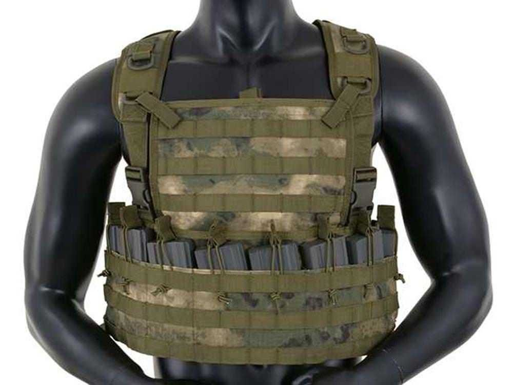 Fields Airsoft Rifleman Molle Chest Rig Harness ATAK FG Holds 8 Mags 1036