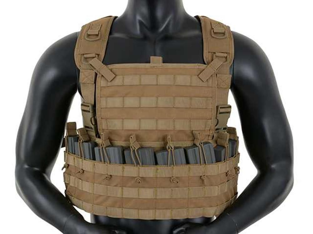 Fields Airsoft Rifleman Molle Chest Rig Harness Coyote Army Style 6mm bb 1036TAN