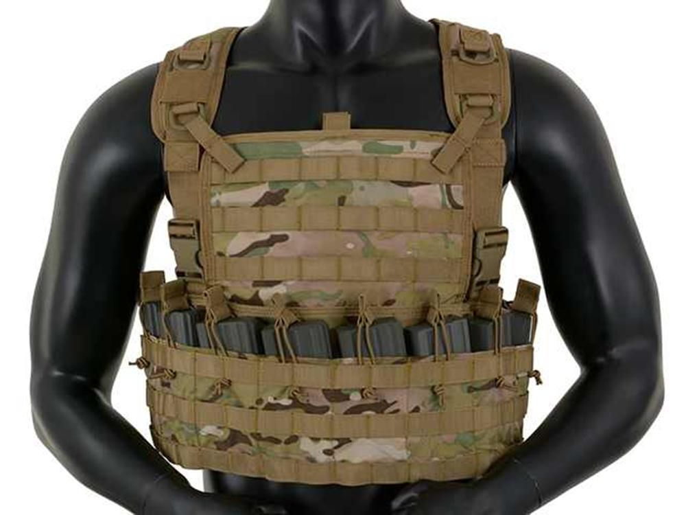 Fields Airsoft Rifleman Molle Chest Rig Harness CP ATP Holds 8 Mags 1036CP