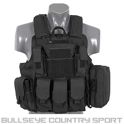 Fields Tactical Combat Vest Fully Loaded Black