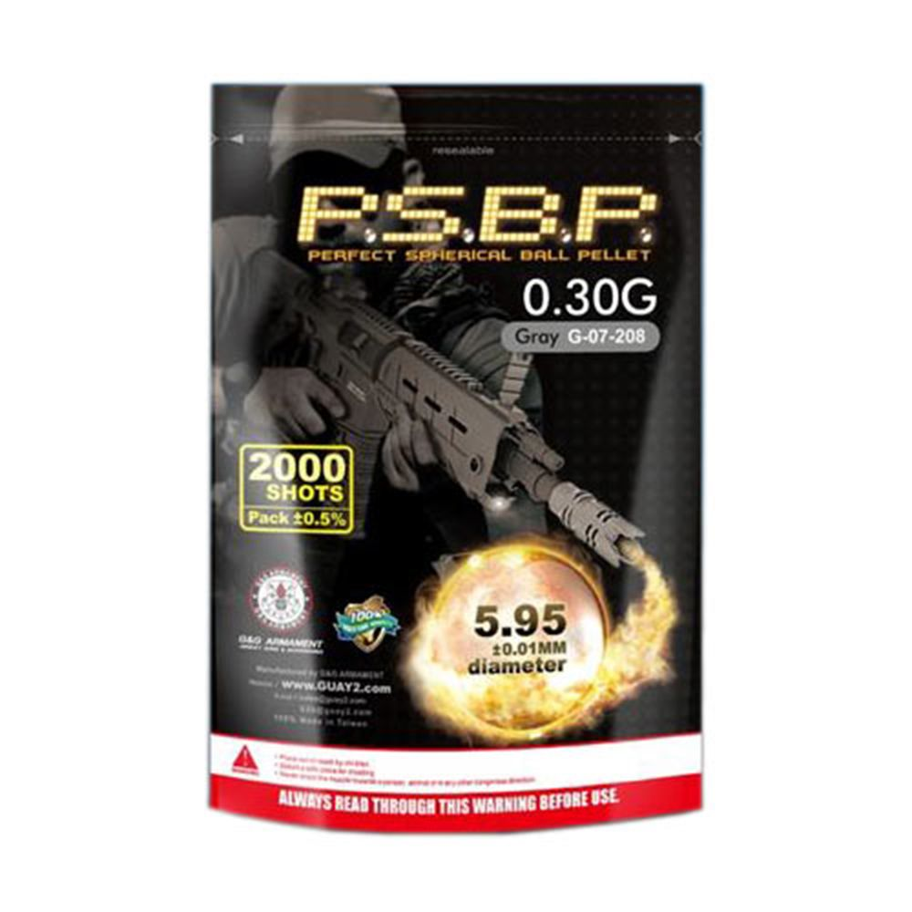 G&G 0.30g BB Pellet 2000 Bag Grey