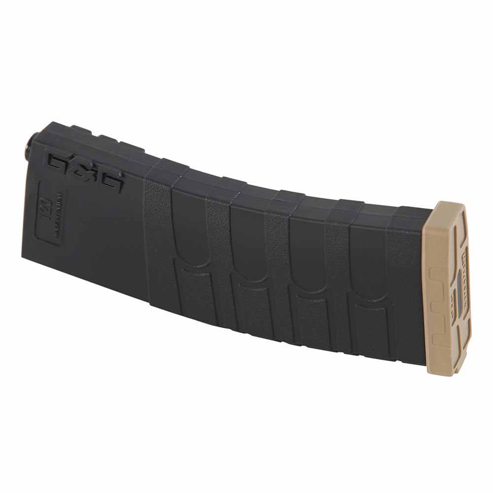 G&G Airsoft GR M-Series Magazine 120 Rd Mid-Cap Black Tan 6mm bb's