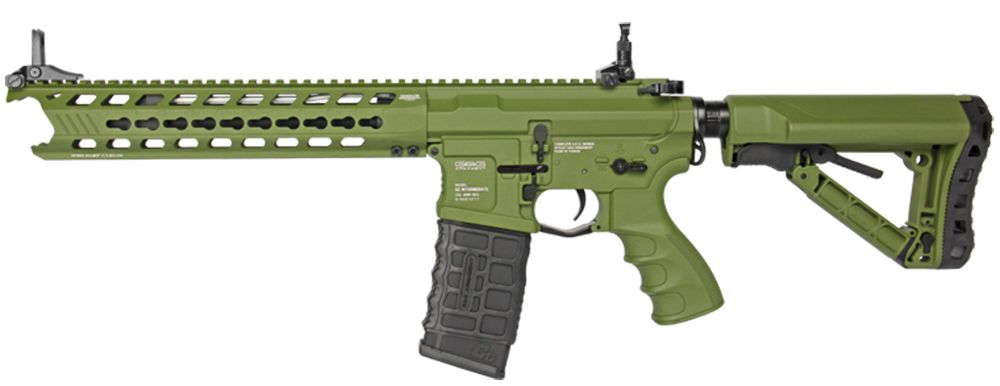 G&G GC16 Predator Hunter Green Full Metal with Keymod Rail ETU & MOSFET Airsoft Aeg