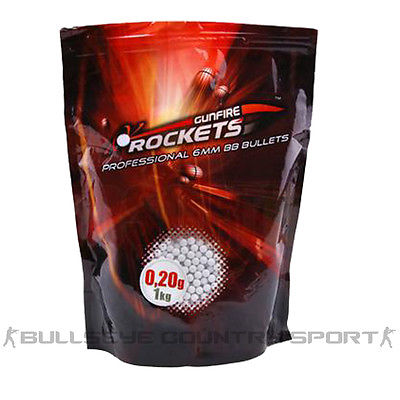 GUNFIRE ROCKETS 0.2g 1KG 6MM BB PELLETS WHITE