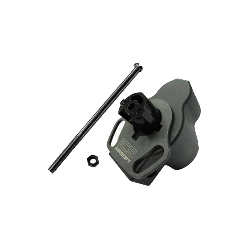 ICS Airsoft Stock Adapter for MP5 With Sling Plate Mount Black MP-131