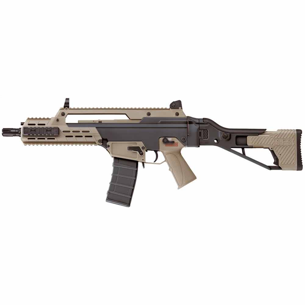ICS G33 Compact Airsoft Rifle Black & Tan ICS-235