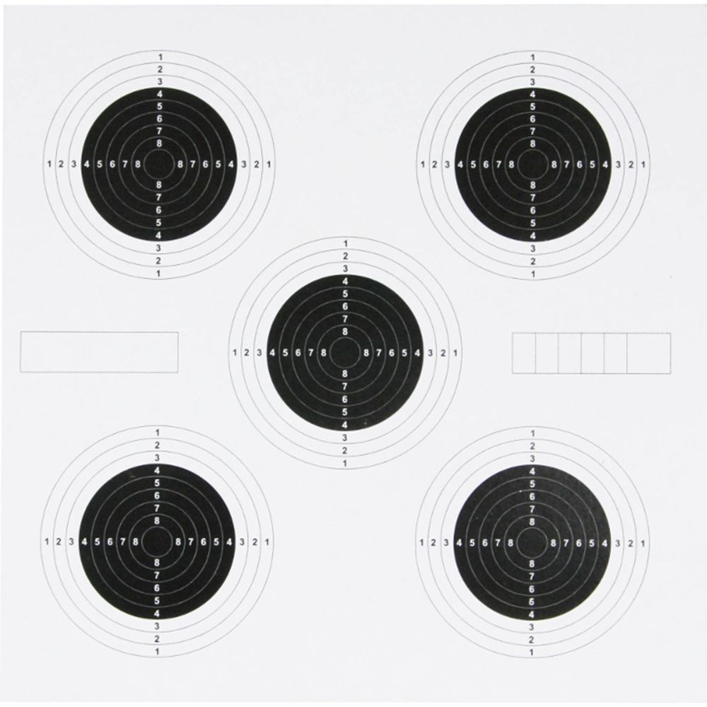 Jack Pyke 25 Yards Airsoft Shooting Hunting 14x14cm Air Rifle Target Cards 100