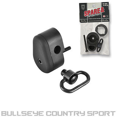 JG WORKS AIRSOFT M4 CQB AEG END CAP WITH AMBIDEXTROUS QD SLING MOUNT BLACK