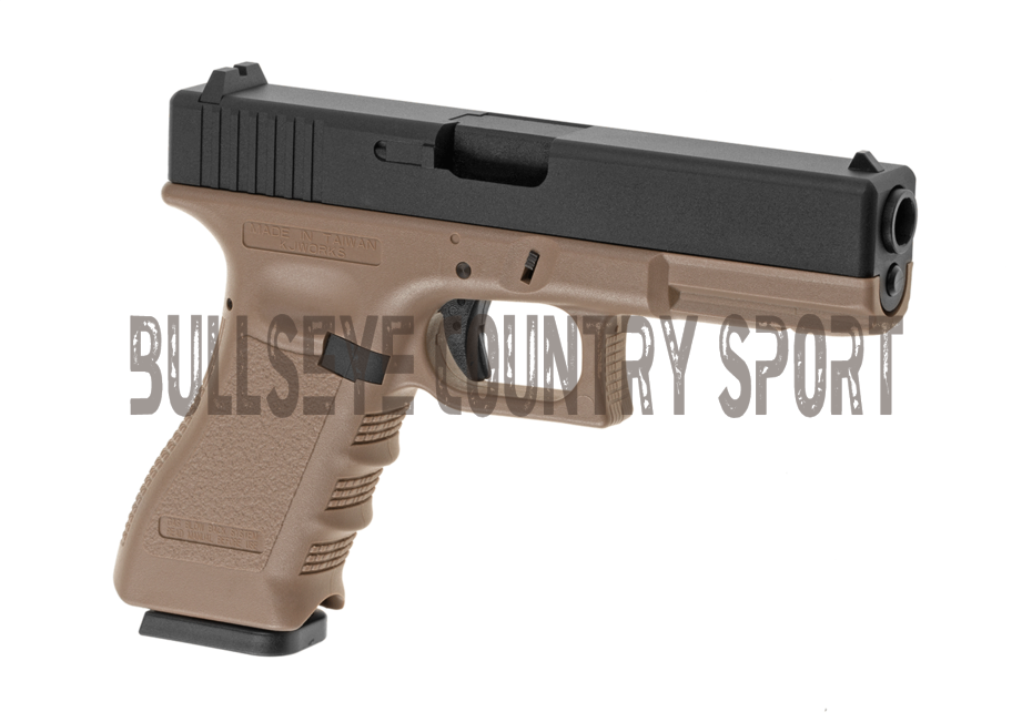 KJ Works Airsoft KP-17 Co2 Pistol Metal Version Desert