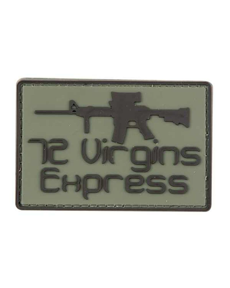 Kombat Airsoft Moral Patch 72 Virgins Express Green