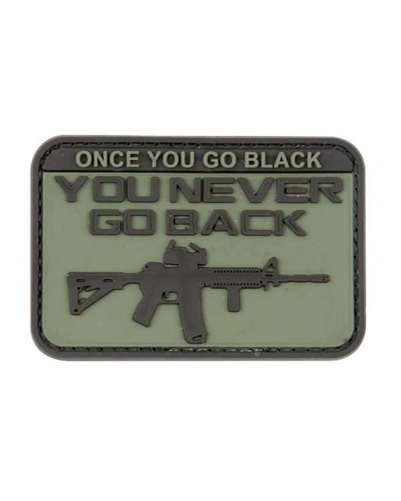 Kombat Airsoft Moral Patch Go Black