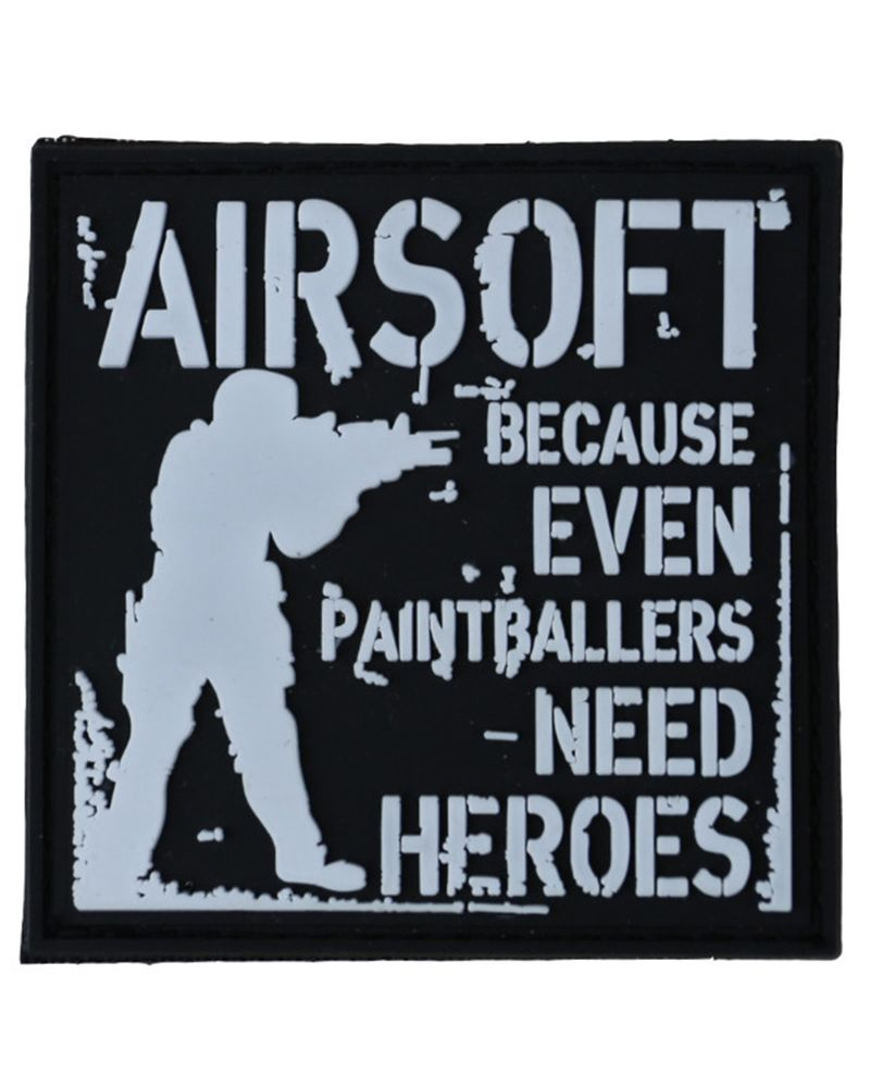 Kombat Airsoft Moral Patch Paintballers Need Heroes Rubber Patch