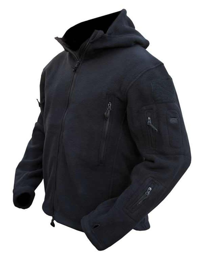 Kombat Tactical Recon Hoodie Fleece Black