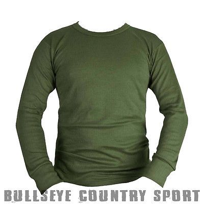 Kombat Thermal Base Layer Top T-Shirt Green OD Army Style Airsoft