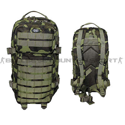 Mfh Assault I Backpack Tactical Rucksack 30ltr Czech M95 Camo