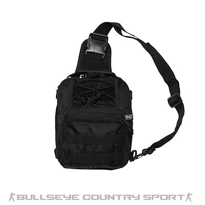 Mfh Combat Tactical Shoulder Bag with Molle Attachments Black