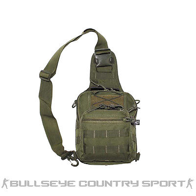 Mfh Combat Tactical Shoulder Bag with Molle Attachments Olive Green